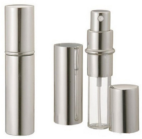 Silver Metallic Perfume Atomizer Spray
