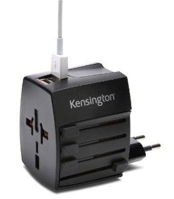 10. Kensington International Travel Plug Adapter with Dual USB Ports (K38120WW)