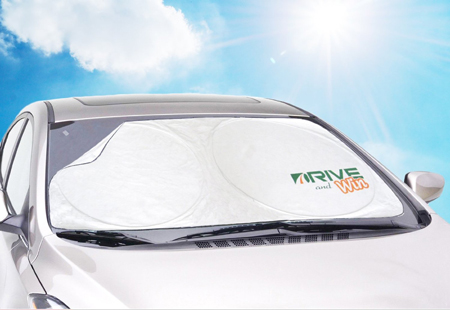 10. DRIVE and Win Car Windshield Shade