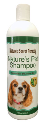 07. Nature's Pet Shampoo - A 5 in 1 Natural Shampoo with Oatmeal and Aloe for Dog Grooming