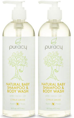 3. Puracy 100% Natural Shampoo & Body Wash