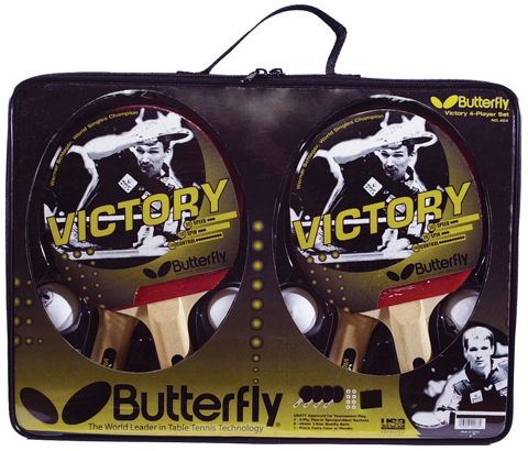 4. Butterfly Victory 4-Player Table Tennis Set