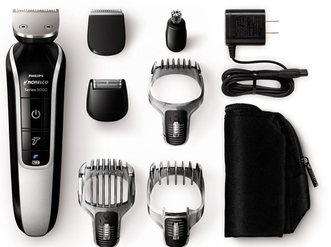 1. Philips Norelco Multigroom 5100, All-in-One Trimmer with 7 attachments