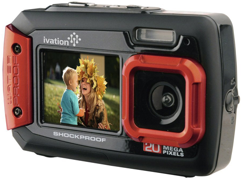 3. Ivation 20MP Underwater Shockproof Digital Camera & Video