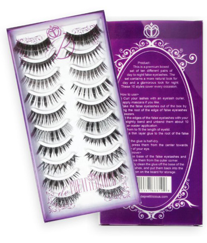 1. The De Prettilicious False Eyelashes, 10 Style Pairs With Beauty E-book