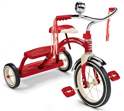 5. Flyer Classic Red Dual Deck Tricycle