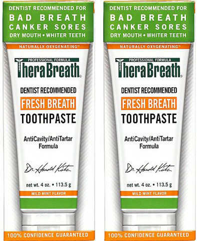 3. TheraBreath Dentist Recommended Fresh Breath Dry Mouth Toothpaste
