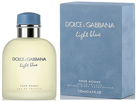 1. Dolce & Gabbana Eau de Toilettes Spray, Light Blue, 4.2 Fluid Ounce