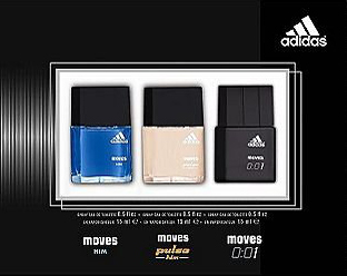 4. Adidas Collection for Men 3 Piece Gift Set
