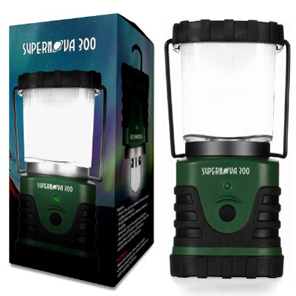 4. The Supernova 300 Lumens Ultra Bright LED Camping