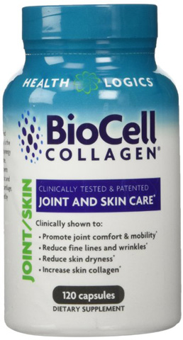 8. Health Logics BioCell Collagen Joint and Skin Care 120 Capsules
