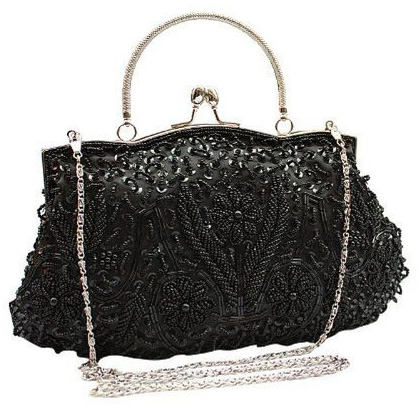 8. VOCHIC Women's Floral Beaded Top Handle Evening Party Purse Handbag