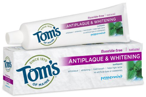 4. Tom's of Maine Antiplaque & Whitening Fluoride Free