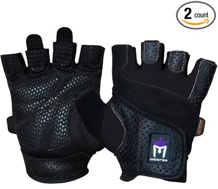 3. Meister MMA Women's Fit Grip Weight Lifting Gloves