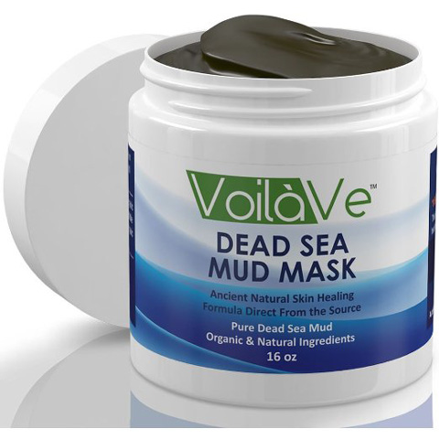 1. Dead Sea Mud Mask Organic Facial Mask Detoxifies, Exfoliates and cleans
