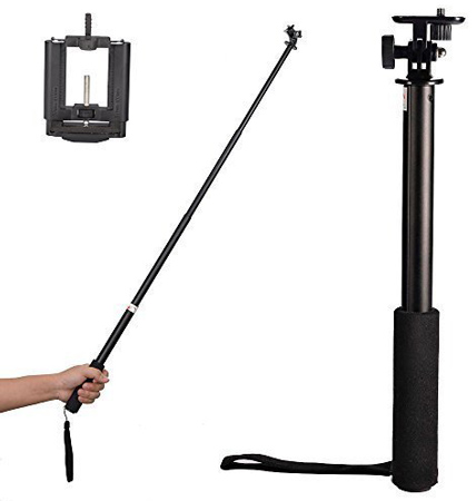 04. Mudder 3 Way Monopod Selfie Stick Extender and Upgraded Smartphone Holder Mount