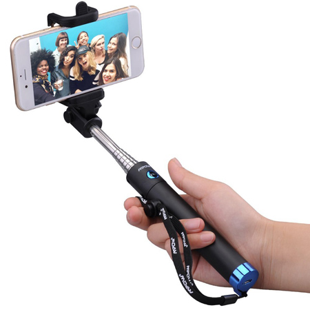 03. Mpow iSnap X One-piece U-Shape Extendable Selfie Stick with built-in Bluetooth Remote Shutter
