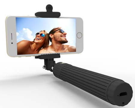 02. Selfie stick, Kiwi Bluetooth Selfie Stick with built-in Bluetooth Remote Shutter