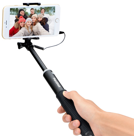07. Selfie Stick, PanShot LT-C01 Cable Control Selfie Stick for phone and GoPro