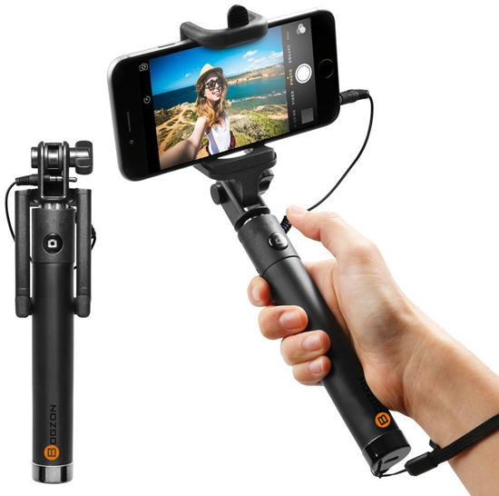 09. Selfie Stick, Eye link [Battery Free] Wired Selfie Stick