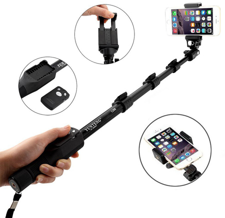 05. i-smile® Selfie Stick, Newest Extendable Self-portrait Selfie Handheld Stick Pole Monopod for Gopro Hero