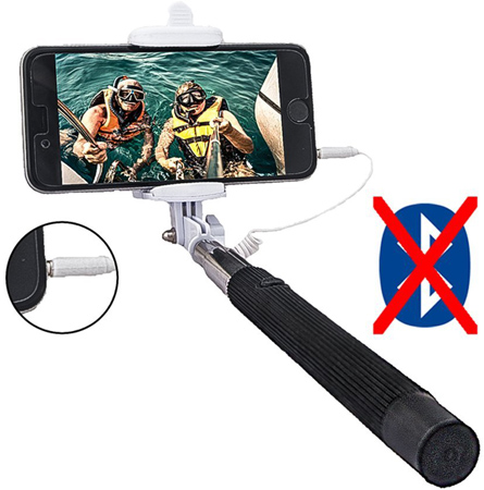 04. Selfie Stick, Worry Free Goodie, Extendable Cable Control