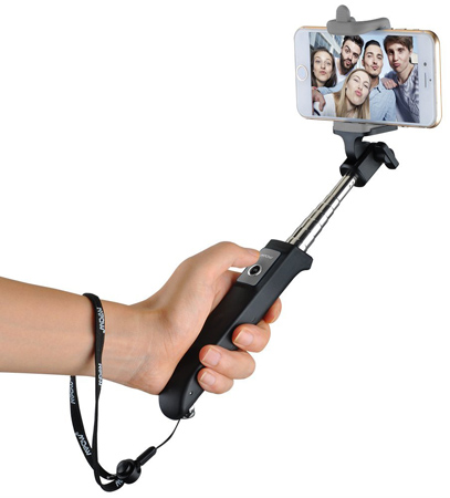 04. Mpow iSnap Y One-piece Portable Extendable Selfie Stick with built-in Bluetooth Remote Shutter for iPhone 6