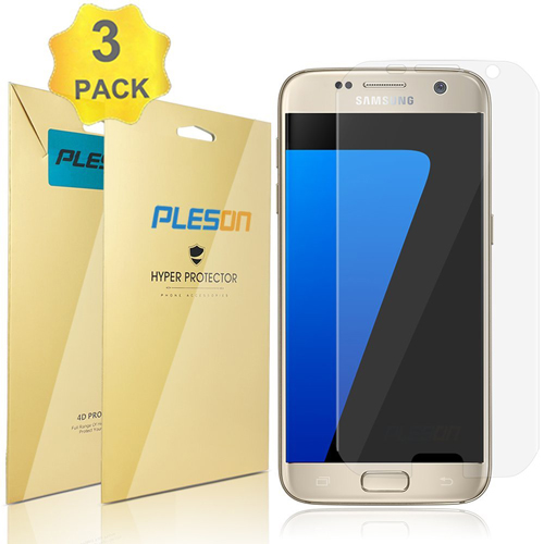 6. Galaxy S7 Screen Protector, PLESON® [3-PACK] Samsung Galaxy S7 Clear Screen Protector