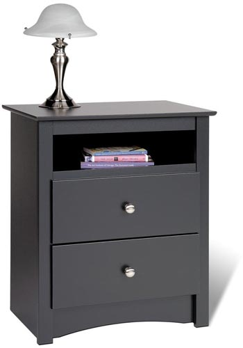 4. Black Sonoma Tall 2 Nightstand