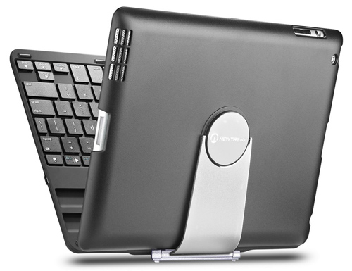 10. iPad keyboard case, New Trent Airbender 1.0 Wireless Bluetooth Clamshell iPad Keyboard Case