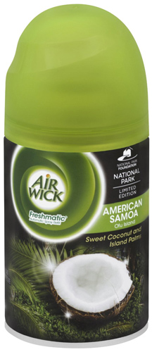 8. Air Wick Freshmatic Automatic Spray Air Freshener, National Park Collection, American Samoa, 1 Refill, 6.17 Ounce