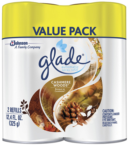 6. Glade Automatic Spray Cashmere Woods Refill, 12.4 Ounce