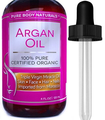 10. Pure Body Naturals Organic Argan Oil For Skin, Face, Hair & Nails, 4fl. Oz