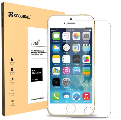 Coolreall Premium Tempered Glass Screen Protector for iPhone SE