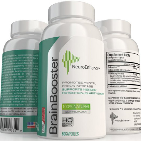 2. NeuroEnhance Natural Brain Function Booster Supplement