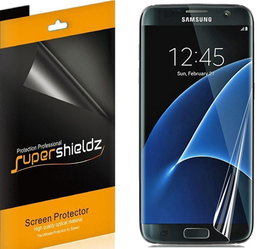 4. [2-Pack] SUPERSHIELDZ- Samsung Galaxy S7 Edge Screen Protector [Full Screen Coverage]