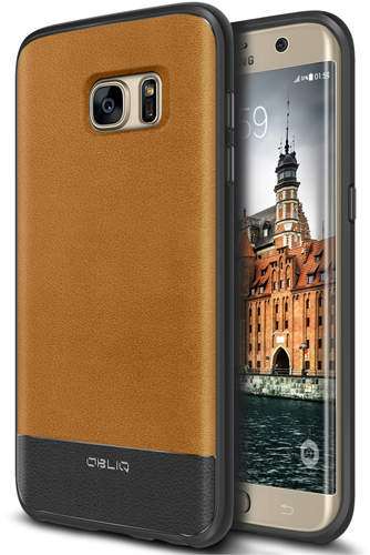4. Leather Slim Fit Heavy Duty Galaxy S7 Edge Case