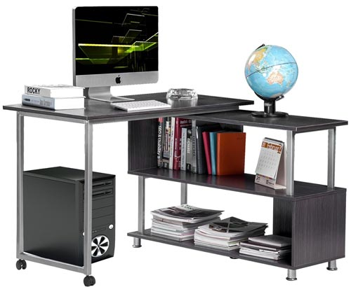 11. Merax Rotatable Computer Desk
