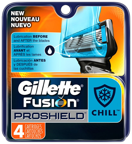 8. Gillette Fusion Proshield Chill Men's Razor Blade Refills