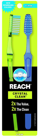 1. Reach Crystal Clean Adult Toothbrushes