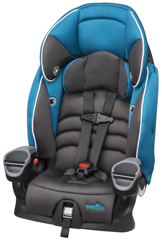 3. Evenflo Maestro Booster Car Seat Thunder