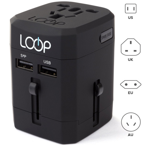3. Worldwide Travel Adapter By LOOP