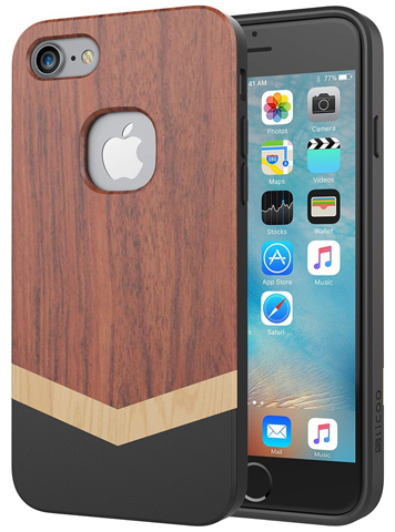3. Slicoo Slim Wood Protective Cover Case
