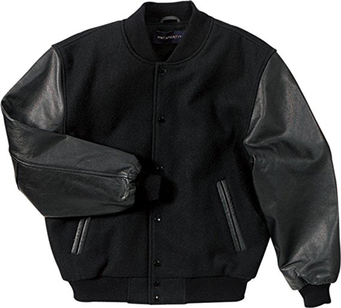 7. Wool and Leather Letterman Jacket