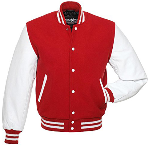 1. C103 Red Wool White Leather