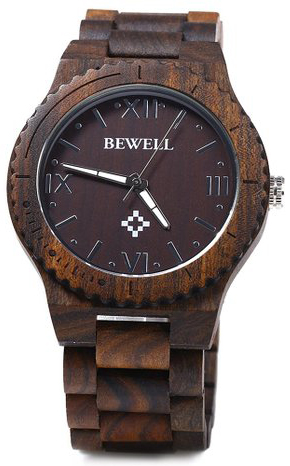 6. GBlife Bewell ZS - W065A Lightweight Vintage Wooden Watch
