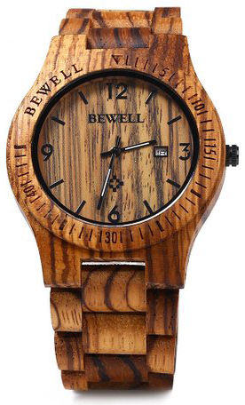 10. GBlife Bewell ZS - W086B Wood Men Watch