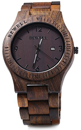 8. GBlife Bewell ZS - W086B Wood Men Watch