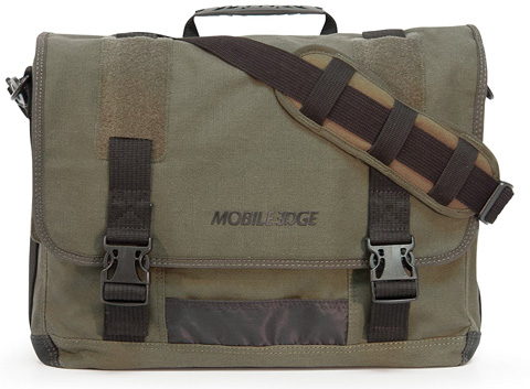 3. 17.3-Inch Eco-Friendly Canvas Messenger Bag, Green (MECME9)
