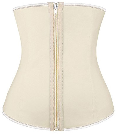 5. Charmian Women's Latex Underbust Waist Training Steel Boned Shapewear Corset
